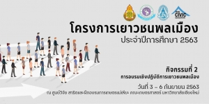 โครงการเยาวชนพลเมือง ประจำปีการศึกษา 2563 กิจกรรมที่ 2 การอบรมเชิงปฏิบัติการเยาวชนพลเมือง @  ศูนย์วิจัย สาธิตและฝึกอบรมการเกษตรแม่เหียะ คณะเกษตรศาสตร์ มหาวิทยาลัยเชียงใหม่